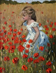 Running Free by Sherree Valentine Daines - Original Painting on Board sized 8x10 inches. Available from Whitewall Galleries